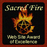Sacred Fire's Web Site Award of Excellence